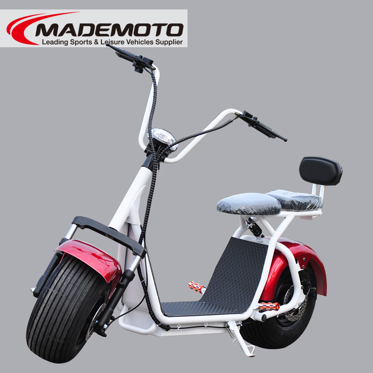1500W 60V 12A lithium battery fat tire citycoco electric scooter
